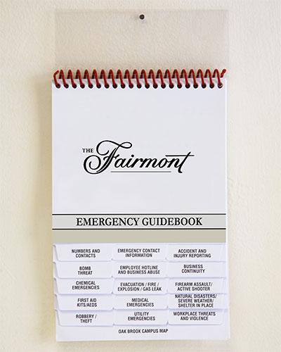 Emergency Response Guidebooks for Hotels/Motels.